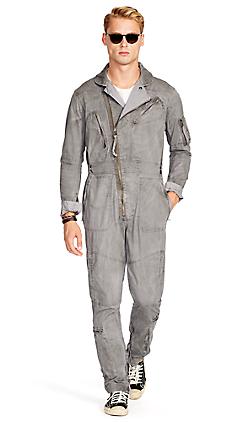 コットン ツイル フライト スーツ